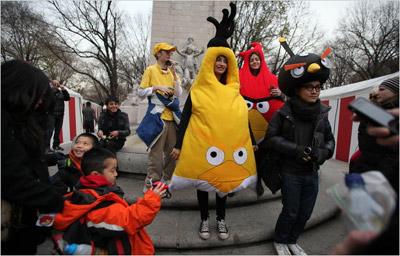 Fan của Angry Birds hội tụ tại New York.