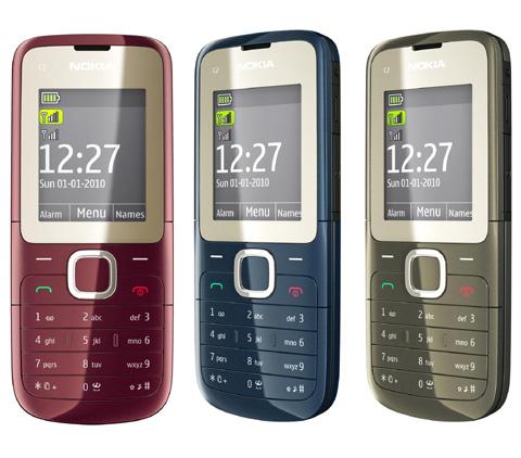 Nokia C2-00 với thiết kế đơn giản.