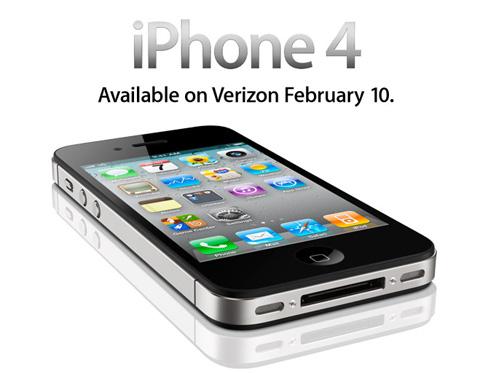 iPhone 4 CDMA sẽ có mặt trên thị trường từ 10/2 tới.