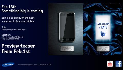 Trang web hứa hẹn sự ra mắt của mẫu di động Galaxy S mới.