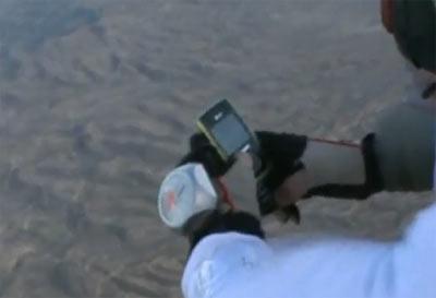 Video nhắn tin khi đang nhảy dù