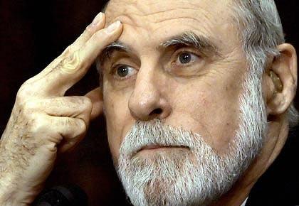 Vint Cerf, cha đẻ của Internet. Ảnh: The Age.