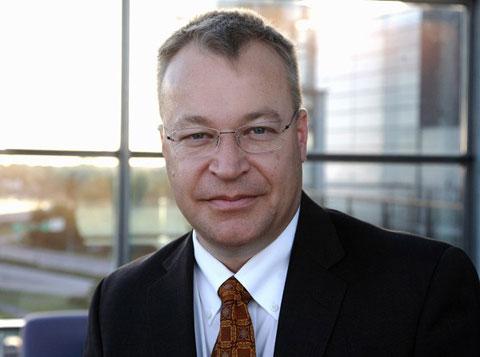 Stephen Elop không tin Android có thể vượt Symbian. Ảnh: Engadget.