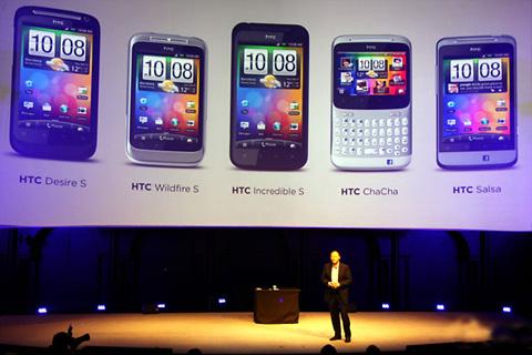 HTC công bố 5 mẫu smartphone tại MWC 2011 hôm nay.