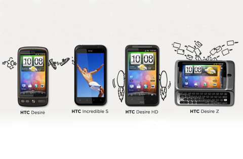 4 mẫu Android của HTC sắp có Android 2.3 Gingerbread.