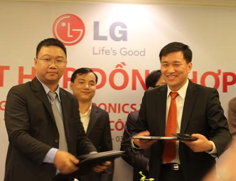 LG và đối tác cung cấp âm nhạc, trang web Nhac cui tui.