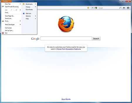 Firefox 4 có giao diện đẹp nhất trong tất cả các phiên bản