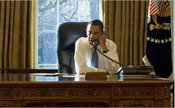Tổng thống Mỹ làm việc tại Nhà Trắng.