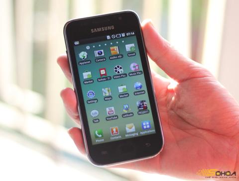 Galaxy S với màn hình rộng. Ảnh: Quốc Huy.