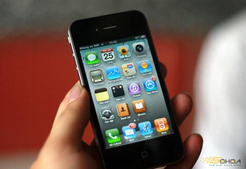 iPhone 4 có giá thấp kỷ lục. Ảnh: Quốc Huy.