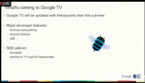 Google cho biết họ sẽ tiến hành nâng cấp Google TV lên phiên bản 3.1 bắt đầu từ cuối hè này. Lập trình viên sẽ là những người được sử dụng phiên bản mới đầu tiên thông qua bộ công cụ SDK.