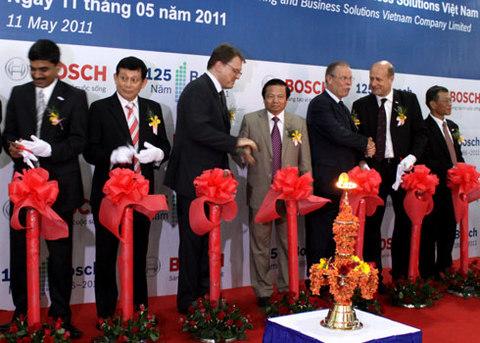 Tập đoàn Bosch khai trương trung tâm công nghệ phần mềm tại Việt Nam. Ảnh: Huy Đức