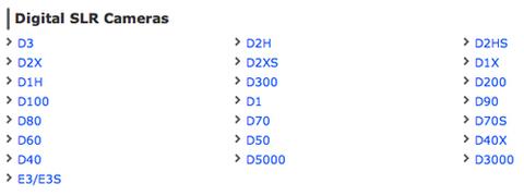 D90 nằm trong danh sách ngừng sản xuất của Nikon. Ảnh chụp màn hình