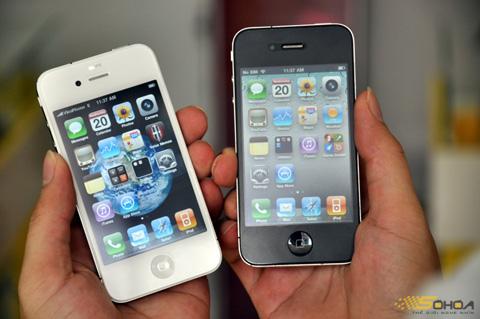 iPhone 4 màu trắng có mặt là một trong những model bán tốt trong thời điểm này. Ảnh: Quốc Huy.