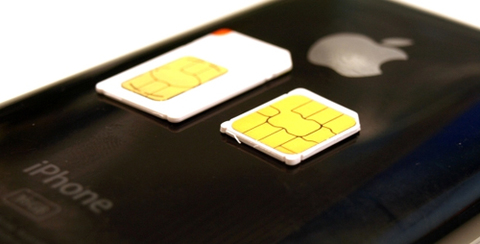 Micro sim của iPhone 4. Ảnh: iphone4jailbreak.