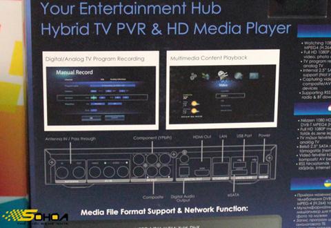 Điểm mạnh của nhà sản xuất này là các thiết bị hỗ trợ truyền hình analog và số. AverLife XVision HD là mẫu HD Player kiêm đầu thu truyền hình PVR.