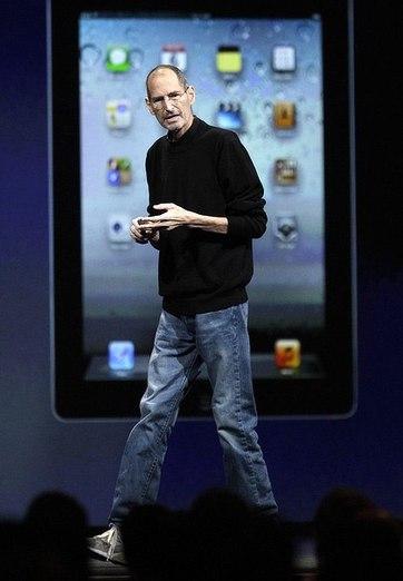 Steve Jobs và chiếc áo len đang gây sốt.
