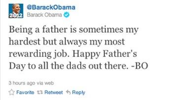 Tweet đầu tiên của Barack Obama.
