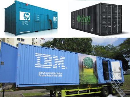 Một số giải pháp DC di động của Sun, HP và IBM.