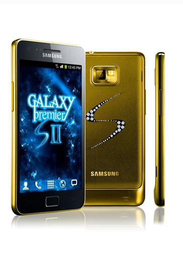 Samsung Galaxy S II mạ vàng, nạm 235 viên kim cương