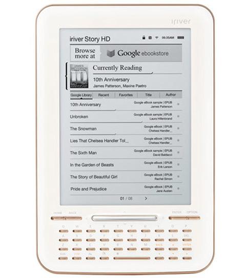 iRiver Story HD có giá 139,99 USD. Ảnh: Google Blog.