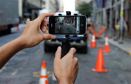Smartphone đảm nhiệm chức năng của camera.