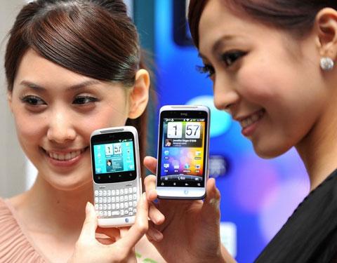 HTC là một trong những tên tuổi nổi lên trong trào lưu Android. Ảnh: Daylife.
