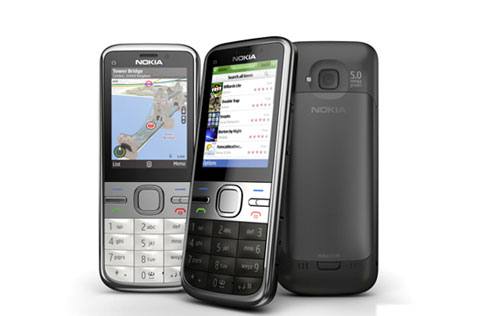Nokia C5-00 5MP với thiết kế dạng thanh.