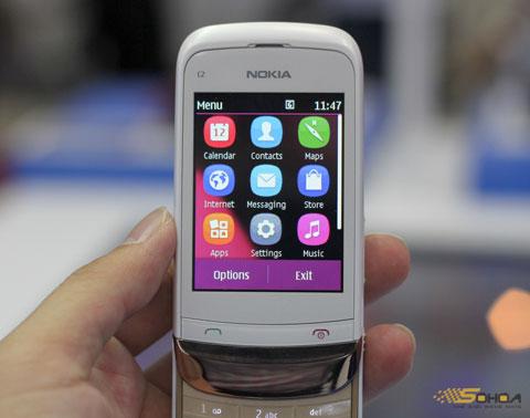 Giao diện nhiều màu sắc, các icon của Symbian Anna.