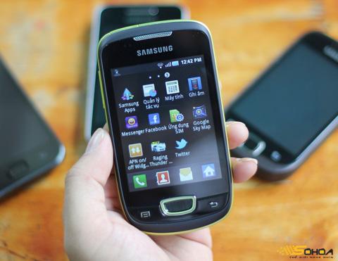 Galaxy Mini với màn hình 3,2 inch. Ảnh: Quốc Huy.