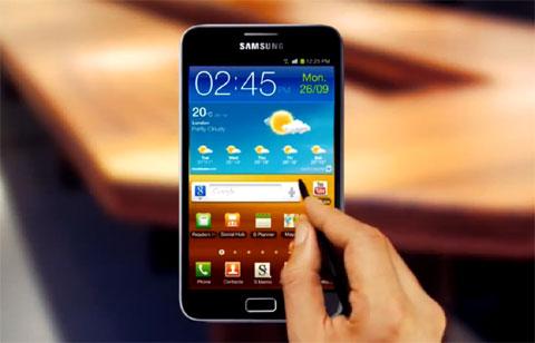 Galaxy Note của Samsung với màn hình 5,3 inch.