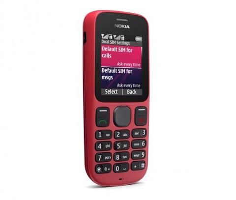 Nokia 101 với thiết kế đơn giản.