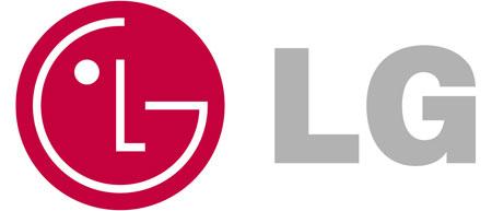 Logo của LG cũng khuyết góc.