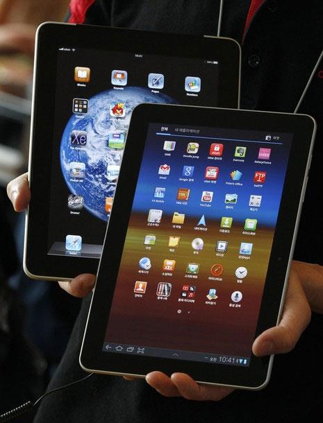 Samsung Đức bị cấm bán Galaxy Tab 10.1 tại Đức và các nước châu Âu. Ảnh: Daylife.