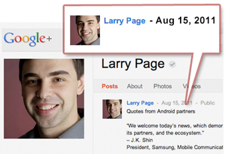 Một tháng nay, CEO Google không chia sẻ công khai điều gì với hơn 300.000 người theo đuôi ông trên Google Plus.