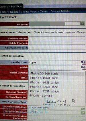 iPhone 4s xuất hiện trên hệ thống của AT&T. Ảnh: Engadget.