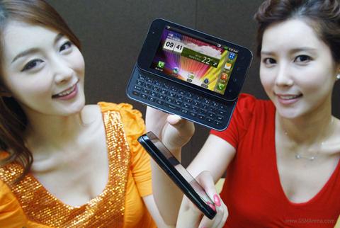 LG Optimus Q2 với bàn phím trượt ngang.