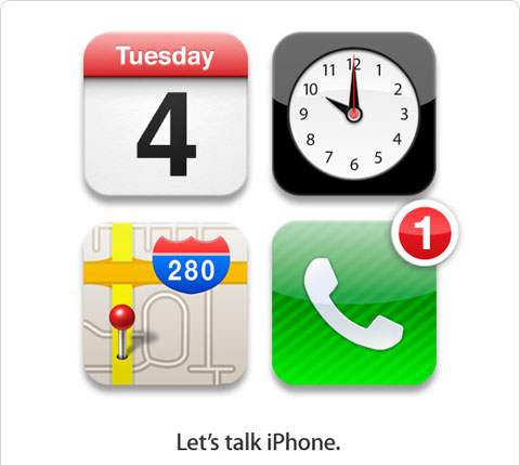 Giấy mời tham gia sự kiện về iPhone.