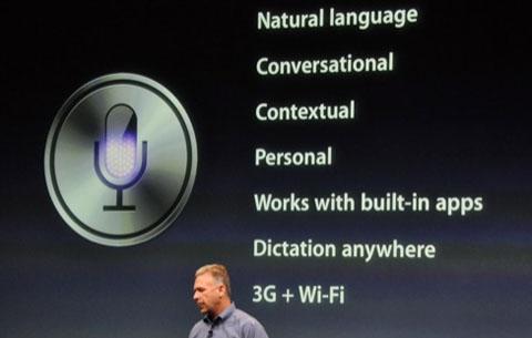 Siri chỉ có duy nhất trên iPhone 4S. Ảnh: Thenextweb.