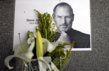 Steve Jobs mất ngày 5/10. Ảnh: Yahoo News.