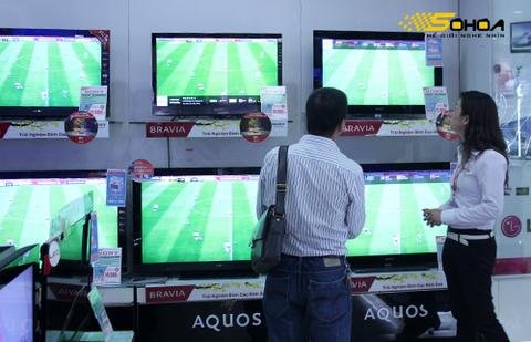 TV LCD của Sony có mức giảm giá lớn trong vòng hơn 1 tháng qua. Ảnh: Tuấn Anh.