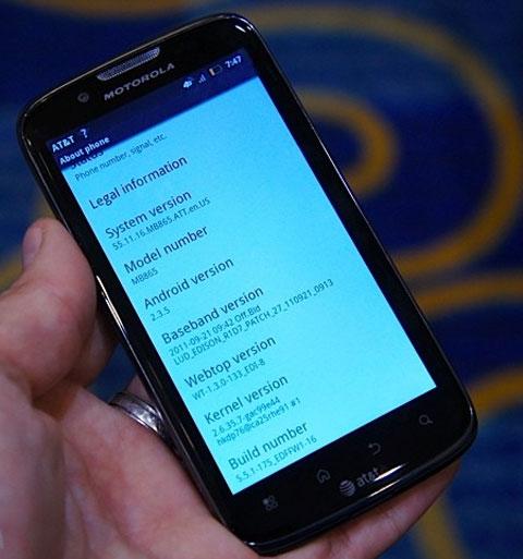 Thiết bị đang chạy Android 2.3.5.