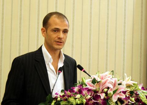 Đại diện Google khu vực Đông Nam Á nói về trình duyệt Chrome tại Việt Nam. Ảnh: Quốc Huy.