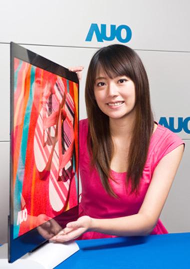 Mẫu TV OLED 32 inch mỏng 3 mm mà AUO sắp trình làng.