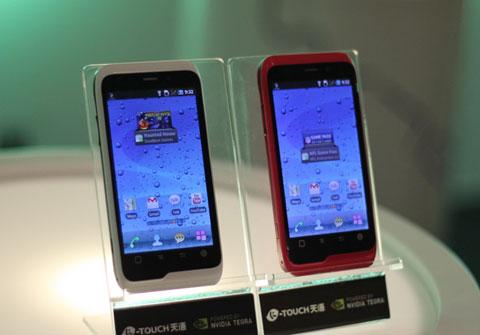 Mẫu di động hai nhân của thương hiệu Trung Quốc, K-Touch vừa giới thiệu. Ảnh: Quốc Huy.