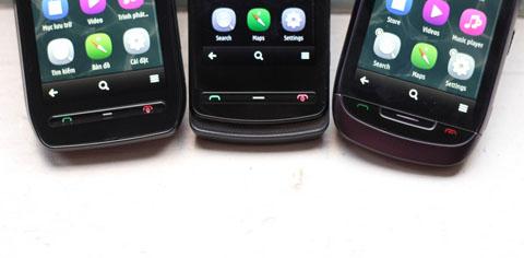 Máy có ba nút cứng phía dưới, ngoài ra, người dùng có thể đi vào các phím điều khiển tùy biến theo từng hoàn cảnh sử dụng.