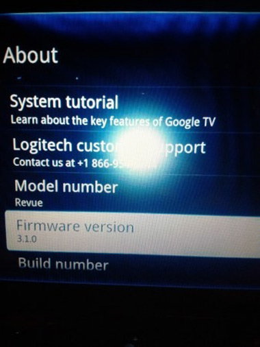 Logitech Google TV bắt đầu lên Android 3.1. Ảnh: Engadget.