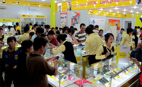 Thị trường di động bắt đầu bước vào mua mua sắm. Ảnh: Quốc Huy.