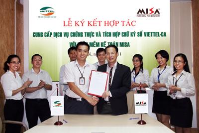 Lễ ký kết giữa Viettel và Misa.
