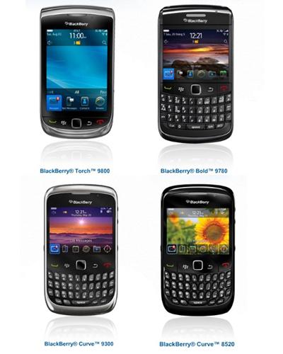 Một số mẫu BlackBerry mới được BrightStar phân phối